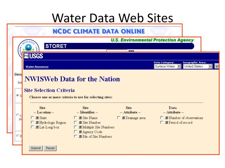 Water Data Web Sites