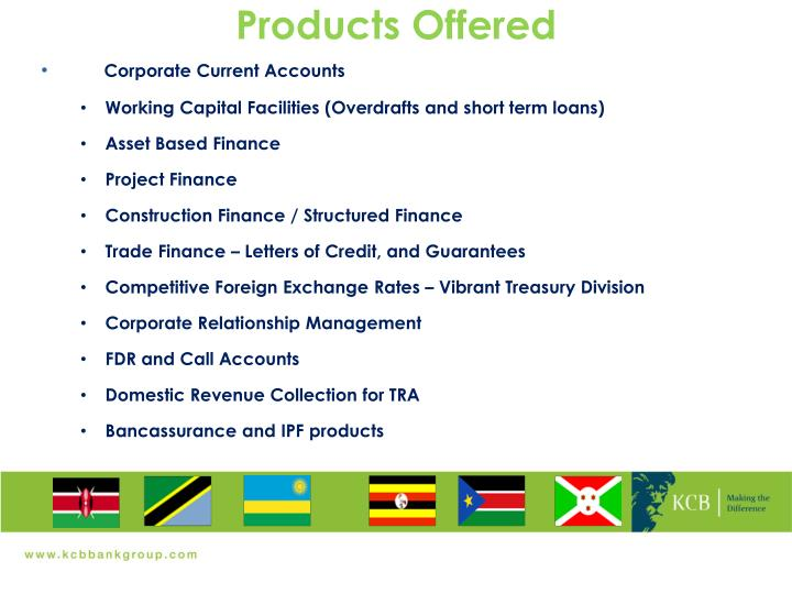 Products Offered