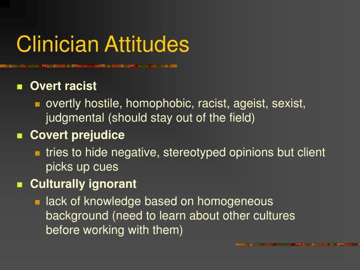 Clinician Attitudes