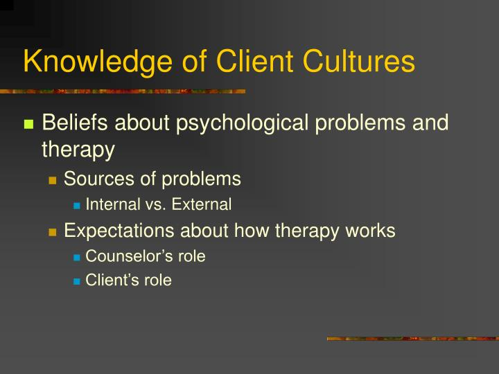 Knowledge of Client Cultures