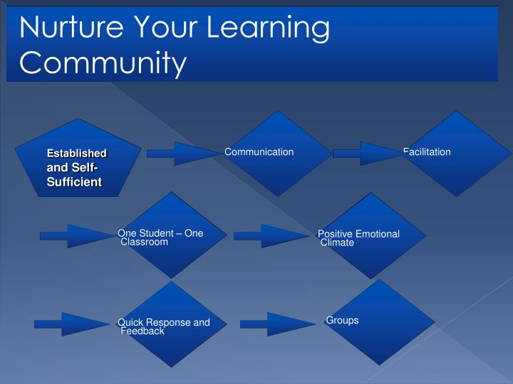 Nurture Your Learning Community