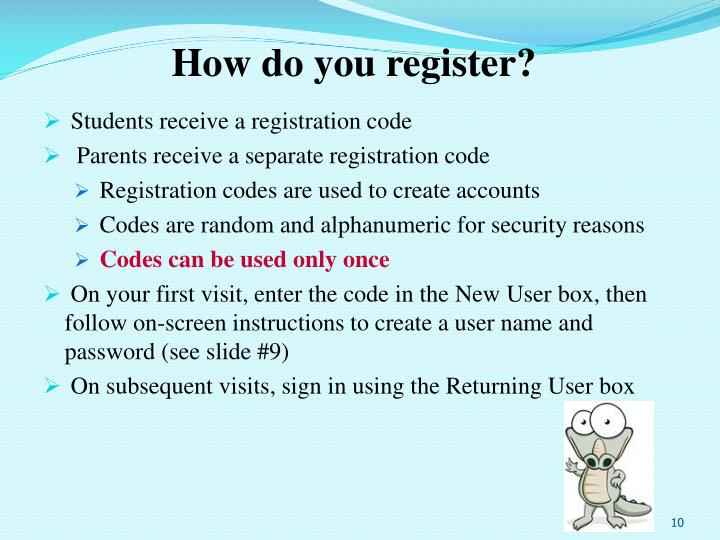 How do you register?