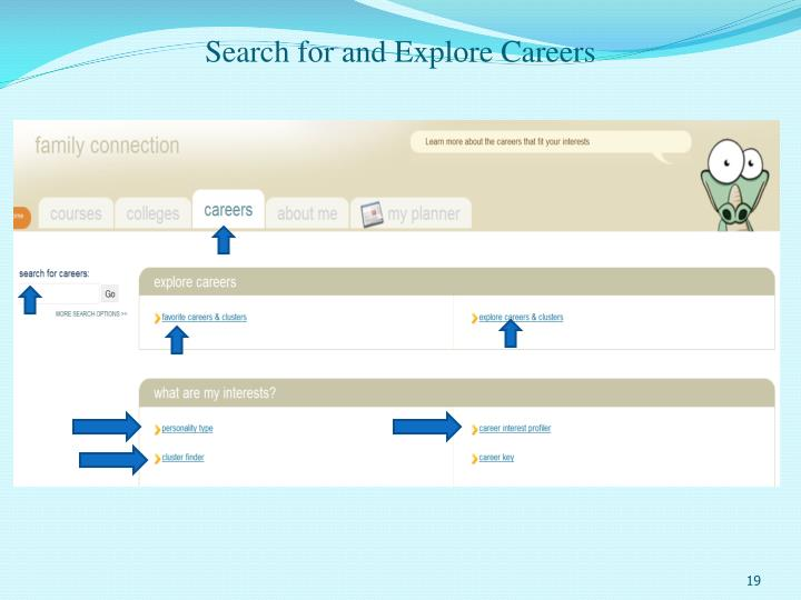 Search for and Explore Careers