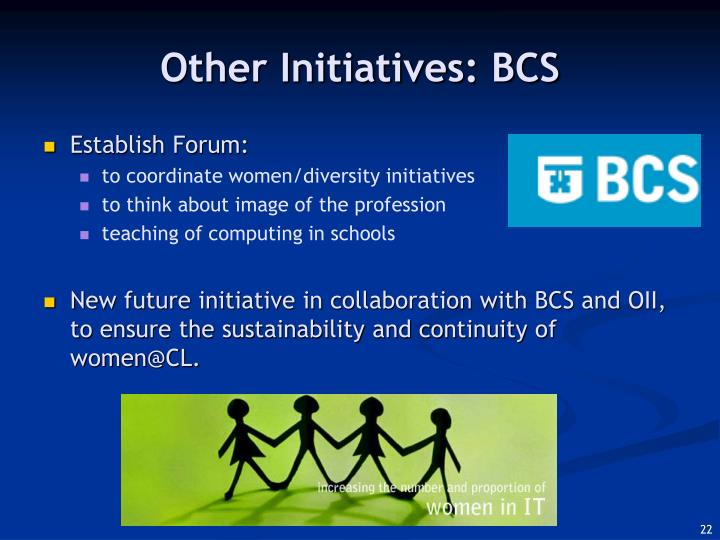 Other Initiatives: BCS