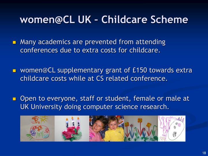 women@CL UK – Childcare Scheme