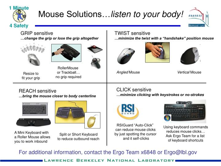 Mouse solutions listen to your body