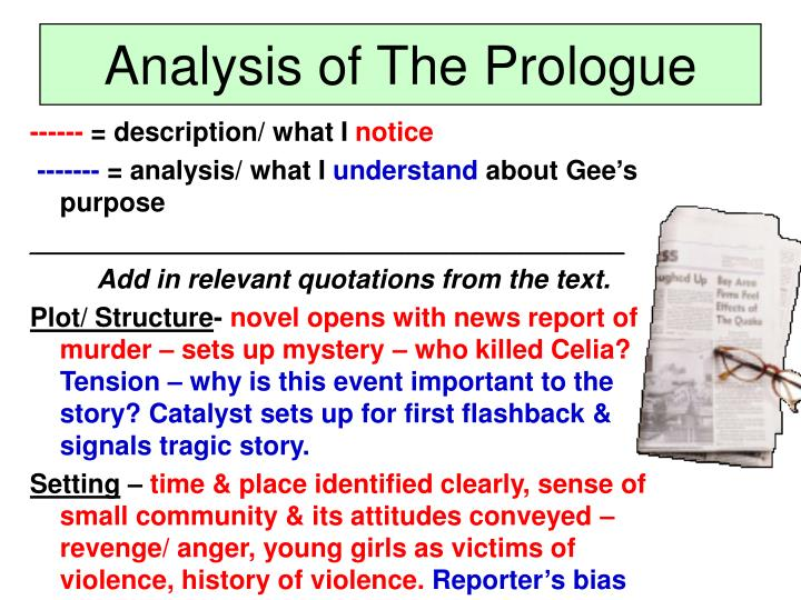 Analysis of The Prologue