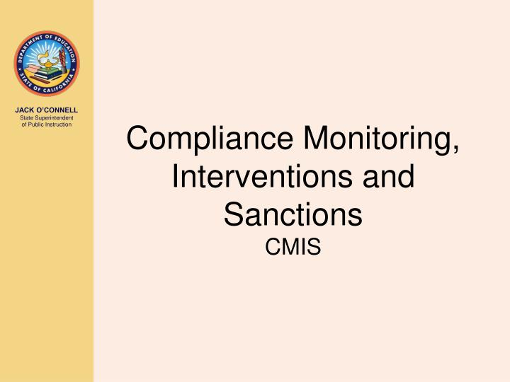 Compliance Monitoring, Interventions and Sanctions