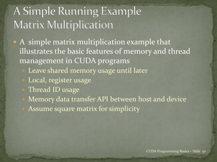A Simple Running Example