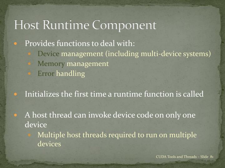 Host Runtime Component