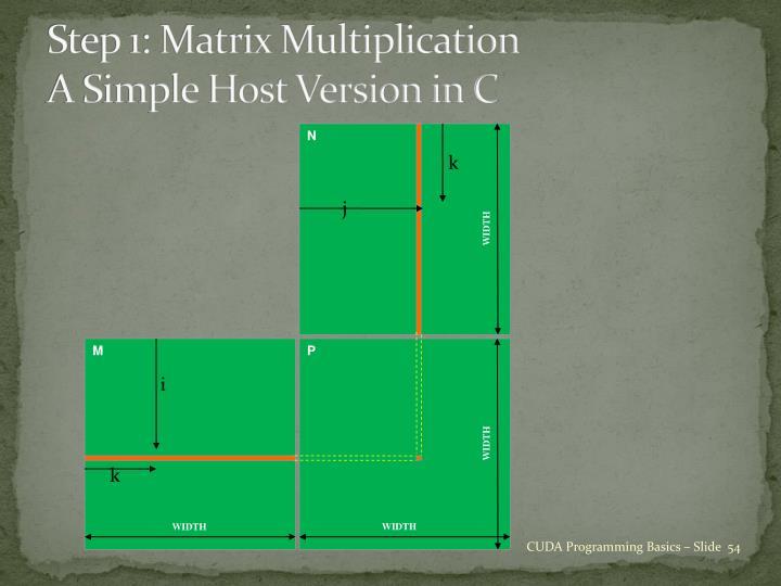 Step 1: Matrix Multiplication
