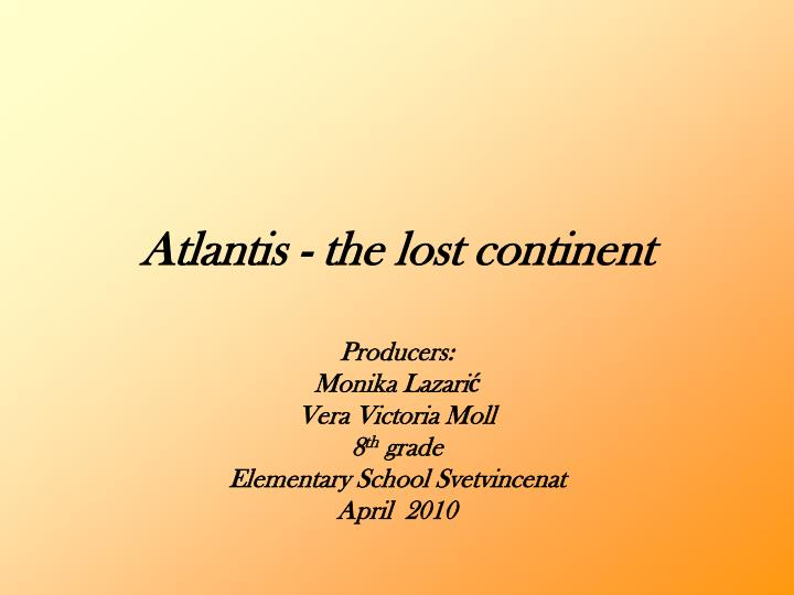 atlantis the lost continent n.