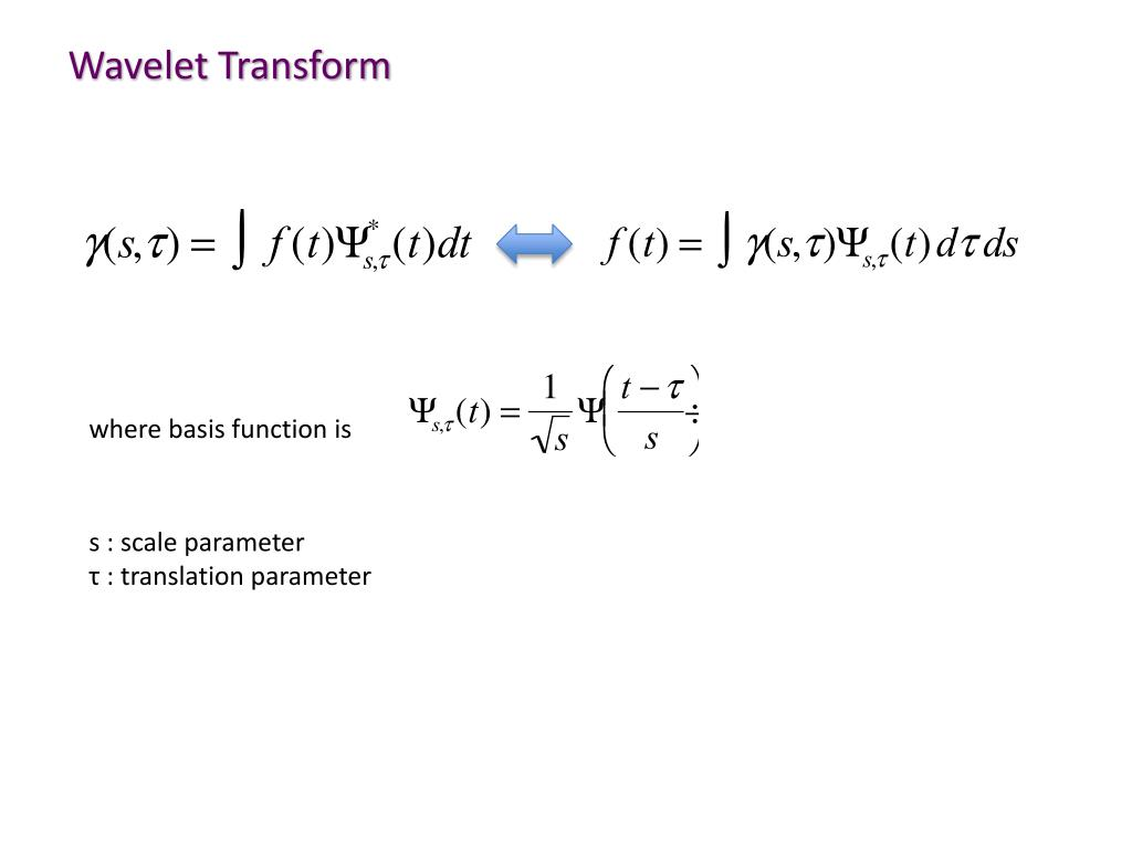 PPT - Fourier / Wavelet Analysis PowerPoint Presentation - ID:2404747