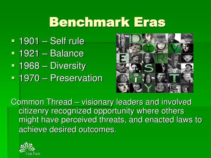 Benchmark Eras