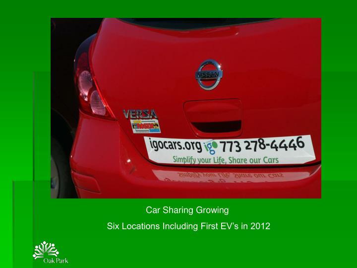 Car Sharing Growing