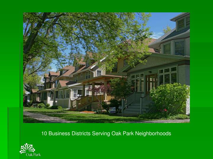 10 Business Districts Serving Oak Park Neighborhoods