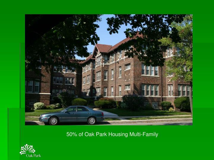 50% of Oak Park Housing Multi-Family