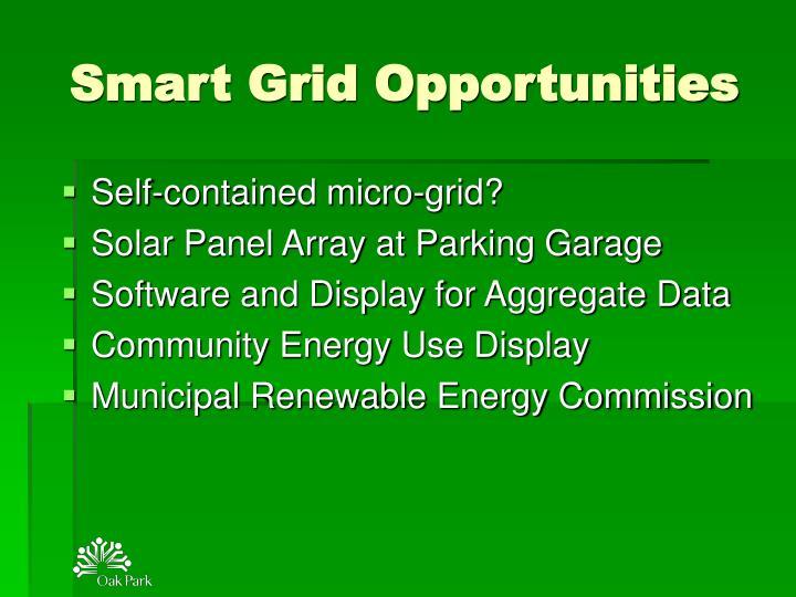 Smart Grid Opportunities