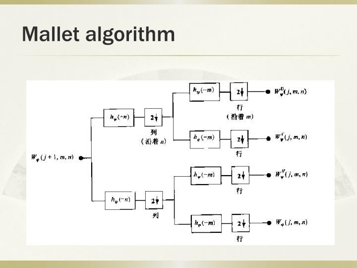 Mallet algorithm