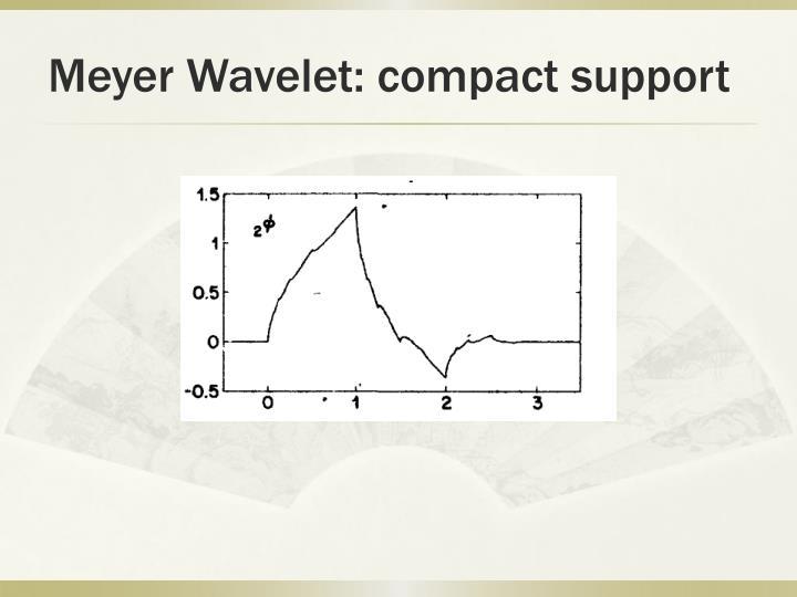 Meyer Wavelet: compact support