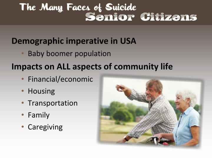 Demographic imperative in USA