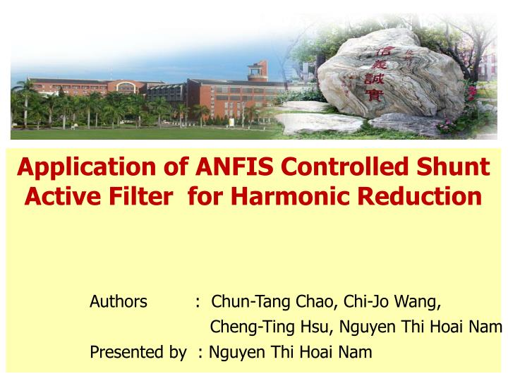 application of anfis controlled shunt active filter for harmonic reduction n.