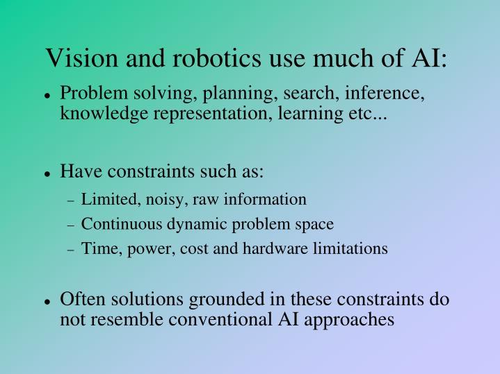Vision and robotics