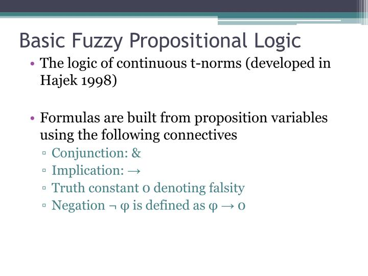 Basic Fuzzy Propositional Logic