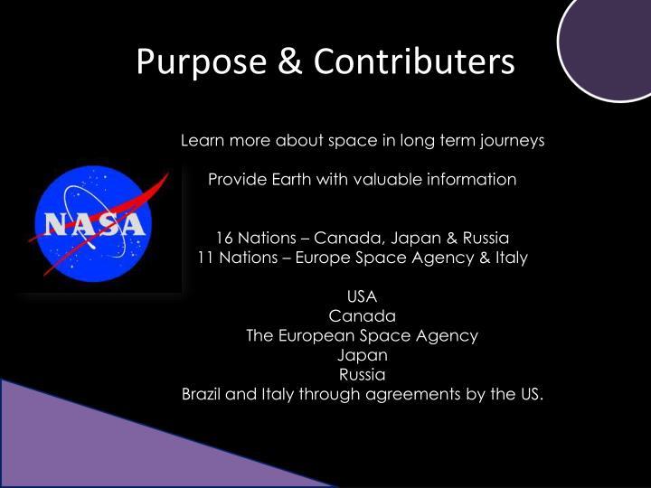 Purpose contributers