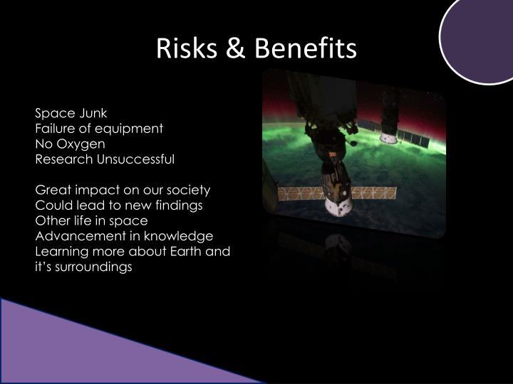 Risks & Benefits
