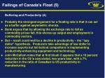 failings of canada s float 5