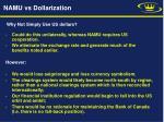 namu vs dollarization