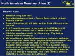 north american monetary union 1