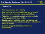 the case for exchange rate fixity 6