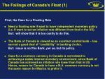 the failings of canada s float 1