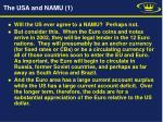 the usa and namu 1
