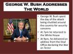 george w bush addresses the world