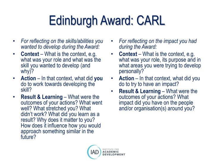 Edinburgh Award: CARL