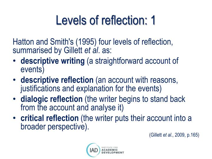 Levels of reflection: 1