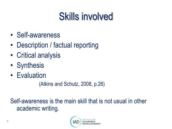 Skills involved