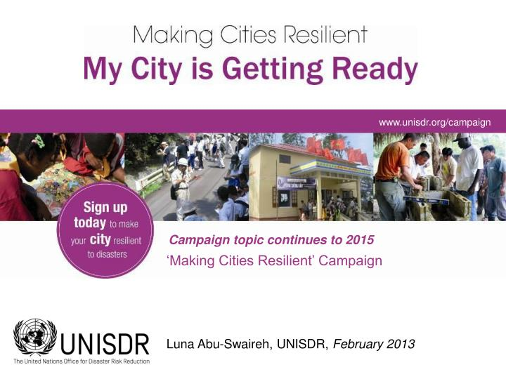 Www.unisdr.org/campaign