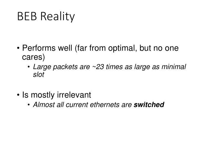 BEB Reality