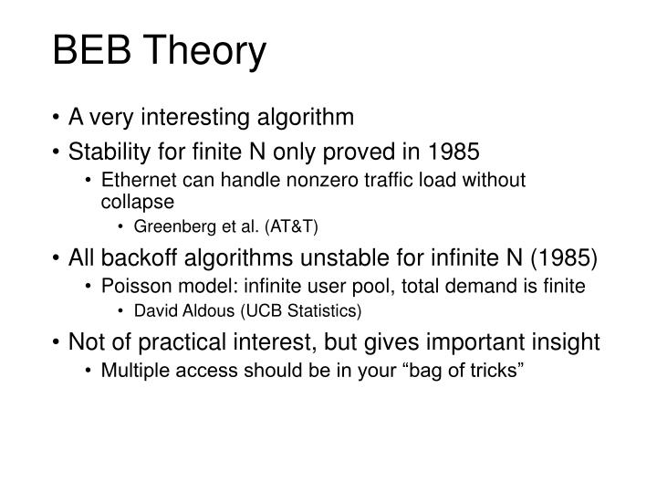 BEB Theory