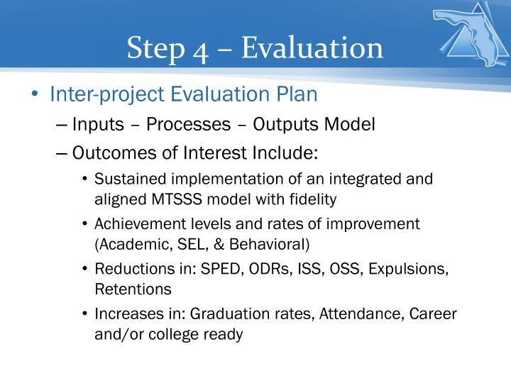 Step 4 – Evaluation