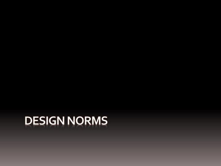 Design Norms