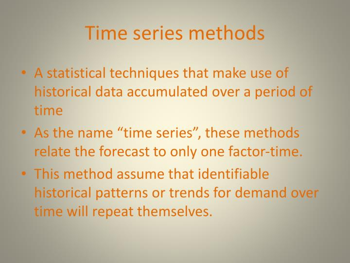 Time series methods