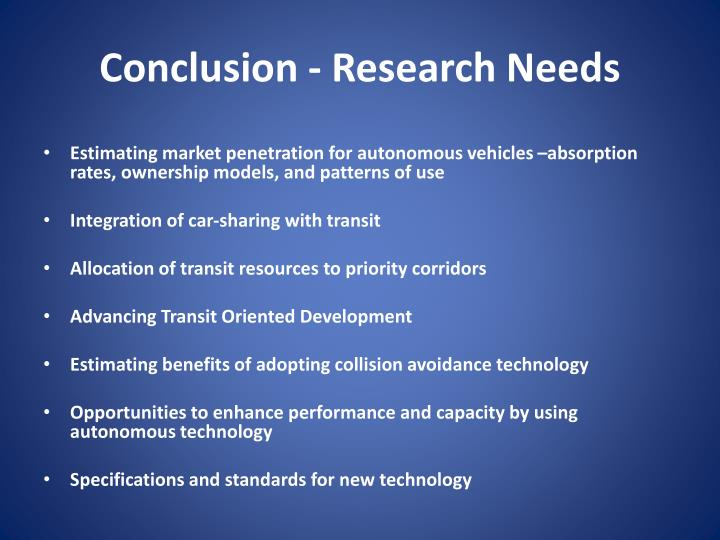 conclusions of research