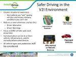 safer driving in the v2i environment