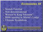 ecclesiastes xii