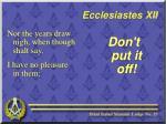 ecclesiastes xii2